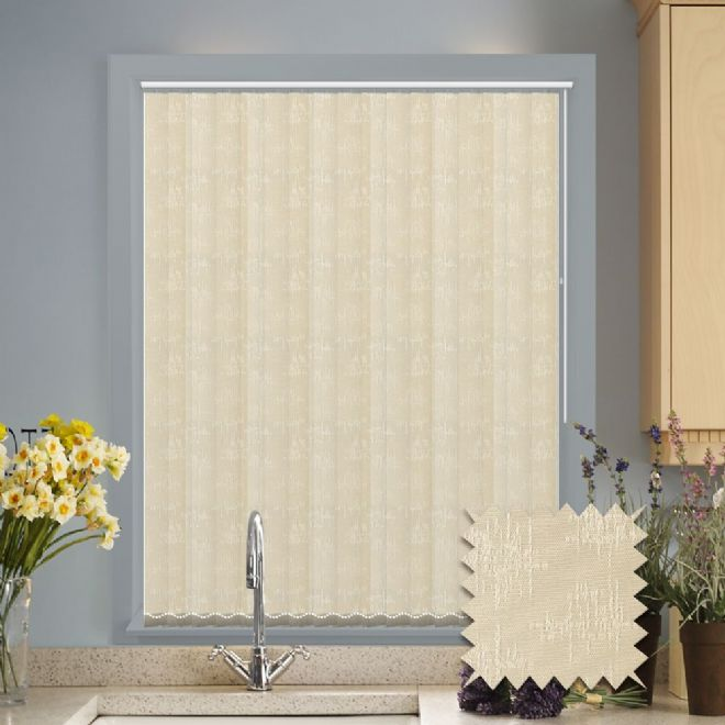 Vertical blinds - Made to Measure vertical blind in Kira White - Just Blinds